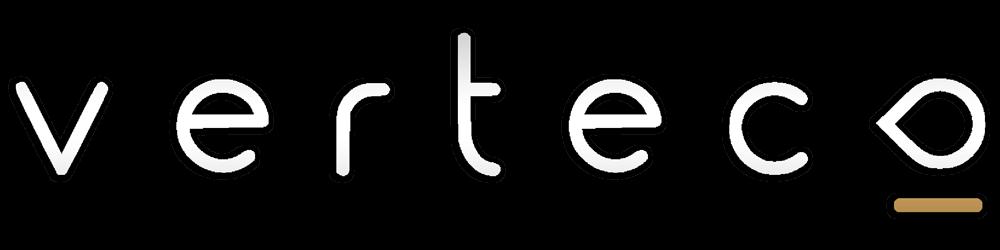 verteco logo biele s tienom