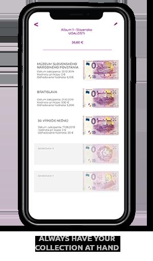 mobilná aplikácia EuroSouvenir album