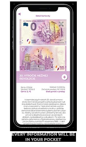 mobilná aplikácia EuroSouvenir detaily bankovky